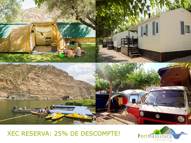 Xec de reserva flexible amb descomptes al Camping PortMassaluca
